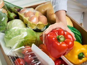 買い物で購入した野菜